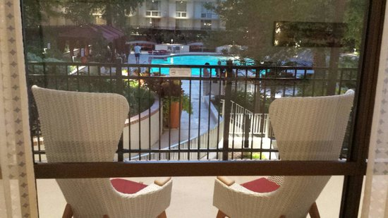 Marriott St. Louis Airport : View out to pool area