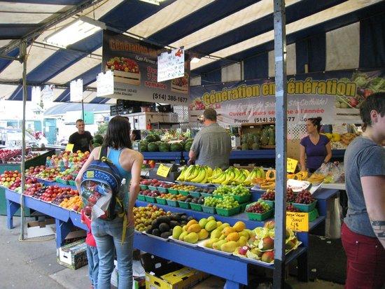 Atwater Market: Un des étals extérieurs