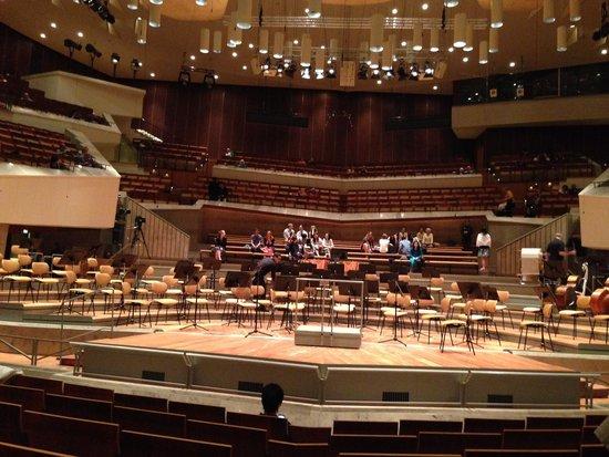 Berlin Philharmonic: Vista da platéia