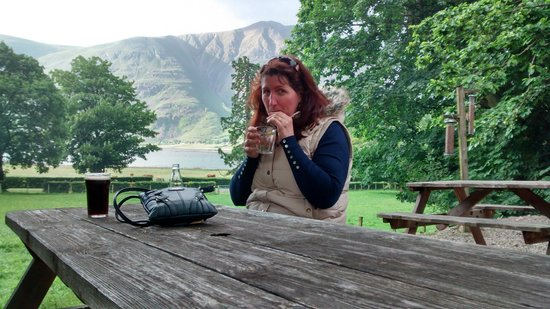 The Torridon Inn: Outside the Inn having a drink