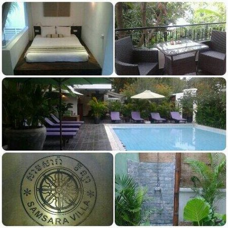 Samsara Villa : Photo de la chambre avec terrasse et de la piscine !