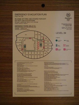 Sheraton Seoul D Cube City Hotel : Map Of Floor and Emergency Exits