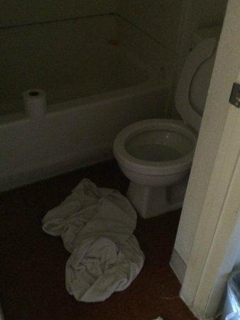 Knights Inn Mesa AZ: Poor condition bathroom