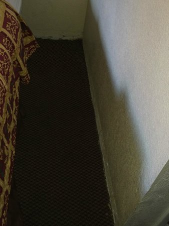 Knights Inn Mesa AZ: Dirty carpet, damaged walls