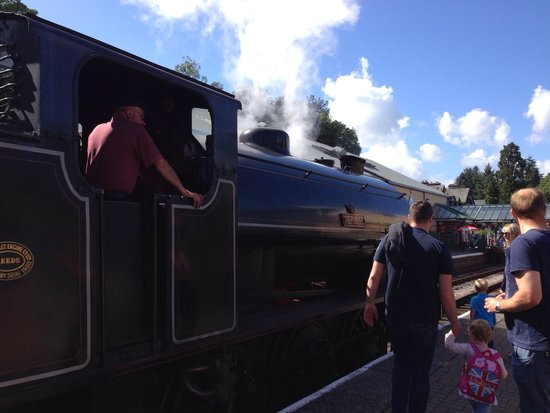 Lakeside Hotel: Option to use steam train at bottom of car park (Aquarium is there too)  1/2 minute walk