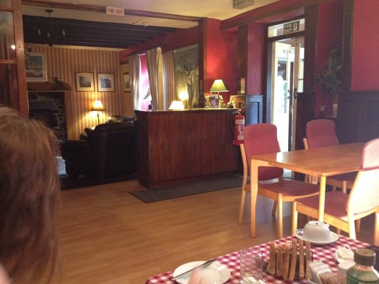 The Lodge at Edinbane: Reception from the dining area