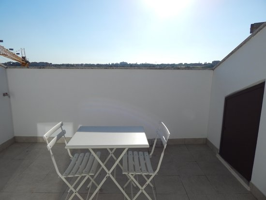 Adagio Rome Vatican: la terrasse : jolie vue malgré les travaux bientôt terminé