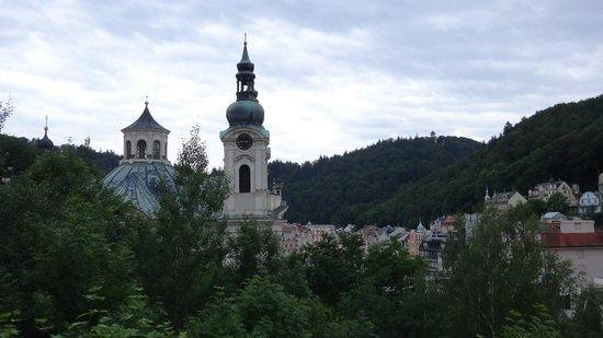 Spa Hotel Schlosspark: вид из отеля