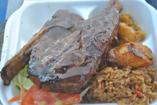 Frigate Bay : jerk pork was awesome!