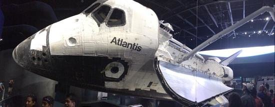 NASA Kennedy Space Center Visitor Complex: Space Shuttle Atlantis on display