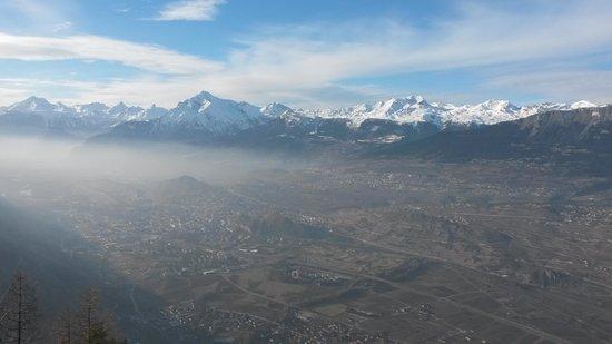 Le Vieux Châlet : Panorama depuis la terrasse