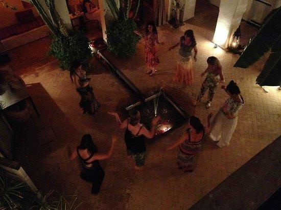Riad O2: birds eye view belly dancing