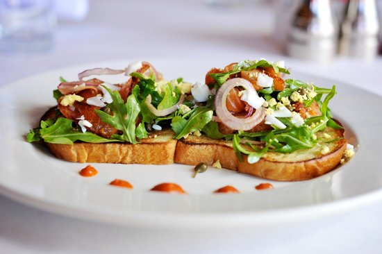 Anjou Restaurant: Salmon Pastrami Tartine