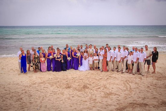 Now Jade Riviera Cancun: All my wedding guests- a pic of the beach