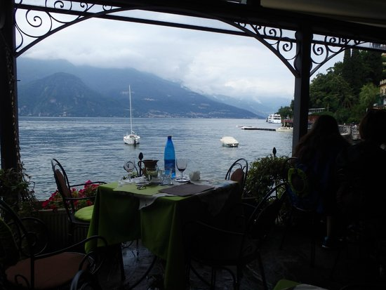 Gorgeous view from Nilus Bar in Varenna