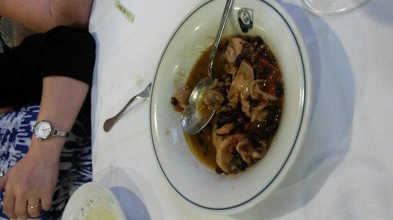 Martin Pescatore: Moscardini con fagioli neri