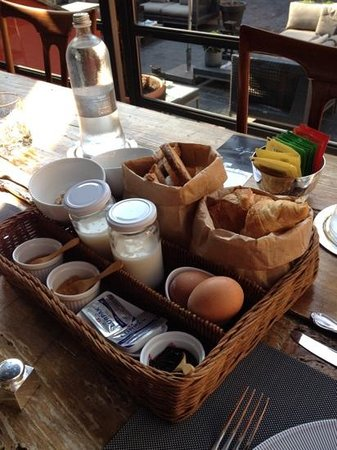 The Yard Hotel: breakfast - not on photo is juice and coffee