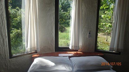 Khao Sok Paradise Resort : Bedroom and view
