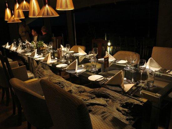 Mahali Mzuri - Sir Richard Branson's Kenyan Safari Camp: Communal Dining Area.