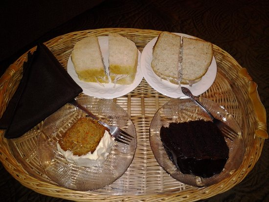 Room service, excellent turkey sandwiches and desserts, Round da Bay Inn, Plate Cove West, NL