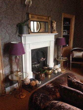 Saltgate House: Lounge area fireplace