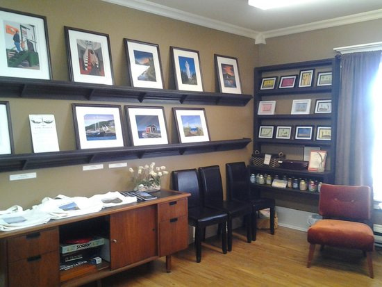 Art by owners, Chris and Karen Ricketts. Round da Bay Inn, Plate Cove West, NL
