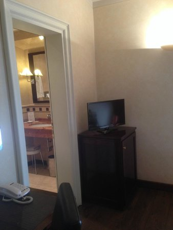 Hotel San Gallo Palace: TV and door to bathroom