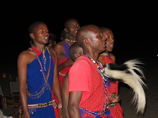 Mahali Mzuri - Sir Richard Branson's Kenyan Safari Camp: Surprise bush dinner and Masai warrior ceremony.