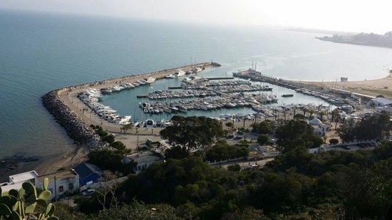 Sidi Bou Said, Tunisia: Vu d en haut de sidi bou