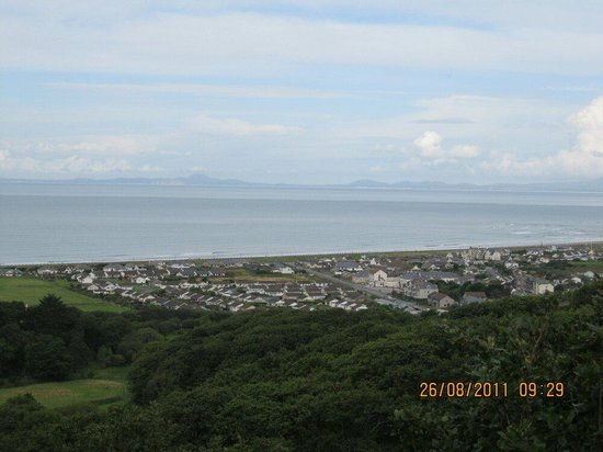 Fairbourne seen from the lower level of The Blue Lake