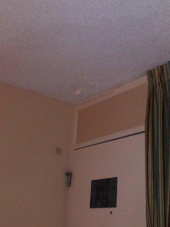 Quality Inn & Suites Georgetown: Paint peeling on ceiling