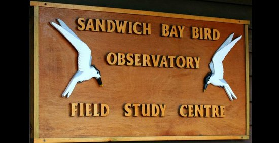 Sandwich, UK: Field Centre Entrance Sign