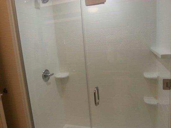 Fairfield Inn & Suites Oklahoma City Yukon : King suite shower.. very roomy