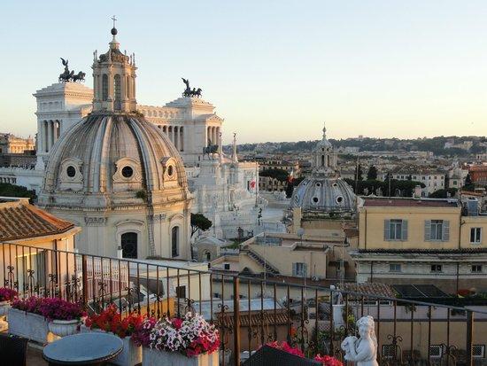 Hotel Pace Helvezia: La terrasse sur le toit