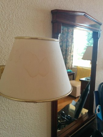 Corfu Palace Hotel: Stained lamp shades