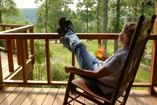 Frannie's Cabins : relaxing view