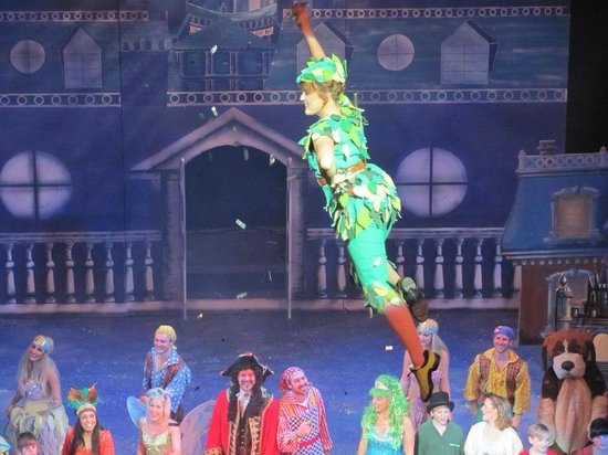 Sunderland Empire: Peter Pan flying in the theatre