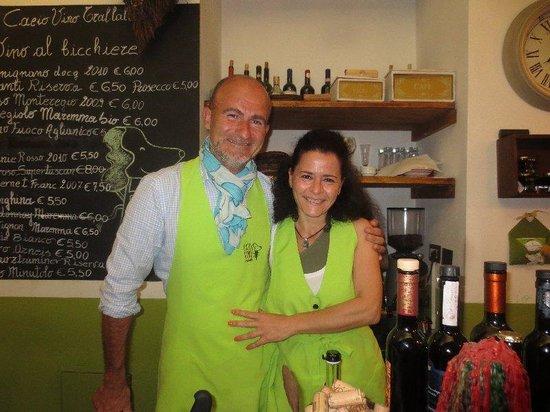 Cacio Vino Trallallà : Our lovely hosts