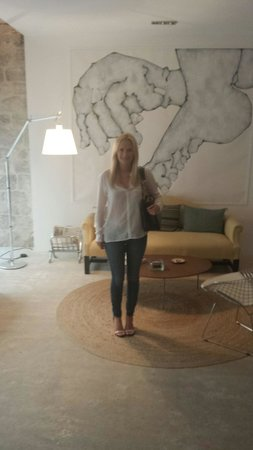 Four Maison D'Hotes : Me in the lobby