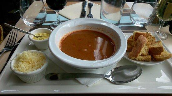 Restaurant Les Deux Ponts: Soupe de poissons, menu matelot