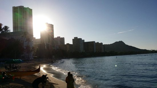 Sun Rise over Waikiki Beach