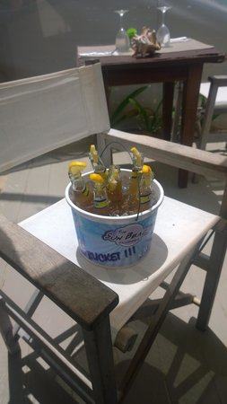 The Sun Beach Clubber : One of our several buckets of beer!