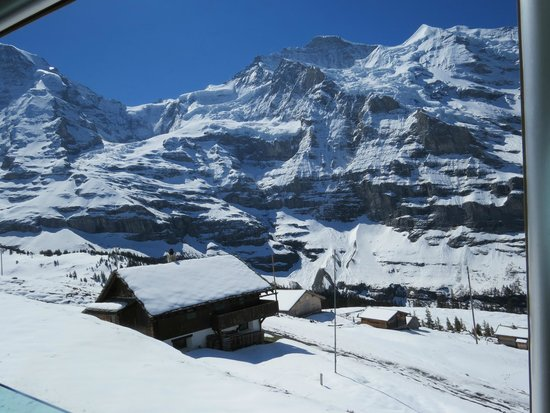 Jungfraujoch: views from the train whilst ascending