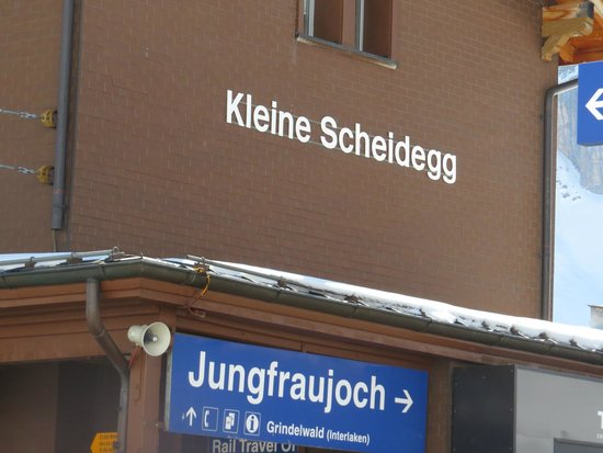 Jungfraujoch: kleine scheidegg station