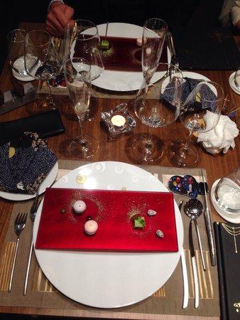 Au 14 Fevrier : La table et ses amuses bouche