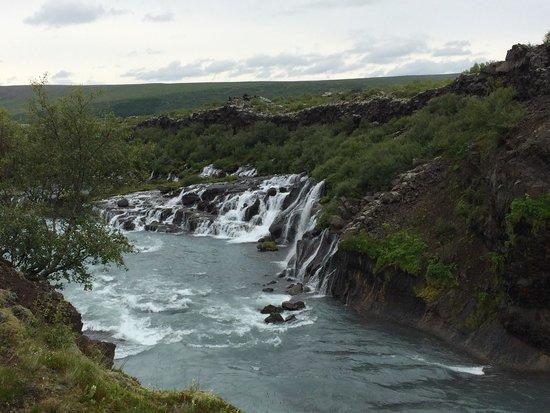 Hraunfossar : Falls