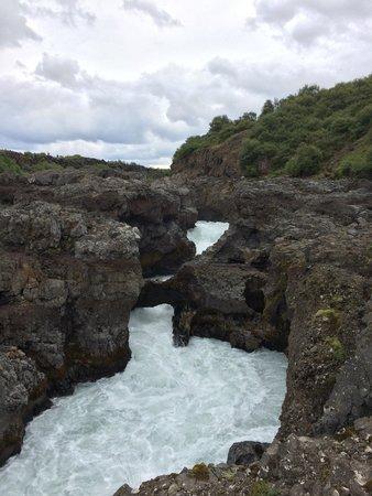 Hraunfossar : Water
