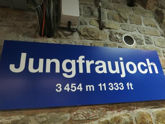 jungfraujoch station-at 11333 feet