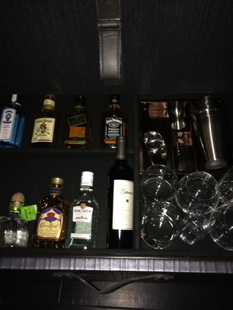 "The Cromwell : The BAR in the dresser...no ""mini's"" here"