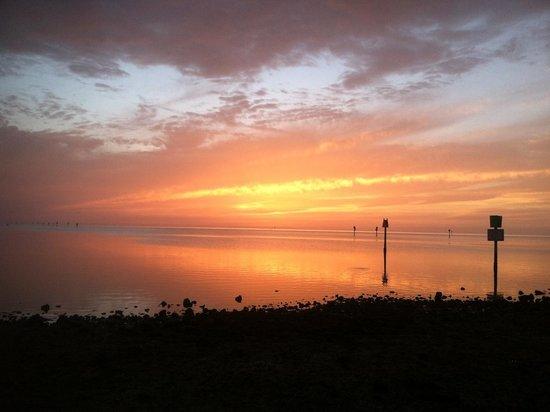 Inn on the Gulf: sunset from hudson beach